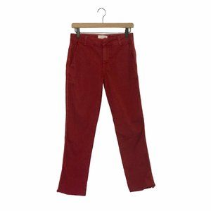 Sundry Red Chinos with Twill Stripe